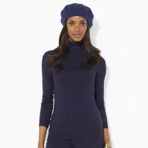 Ralph Lauren Silk-Cotton Turtleneck Sweater